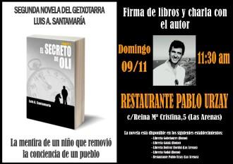 Cartel de la presentación de El secreto de Oli (9N).